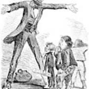 Lincoln Cartoon, 1865 Art Print