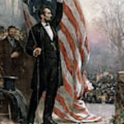 Lincoln Independence Hall Art Print