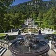 Linderhof And Royal Garden Art Print