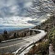 Linn Cove Viaduct During Winter Near Blowing Rock Nc Art Print