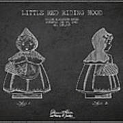 Little Red Riding Hood Patent Drawing From 1943 Art Print