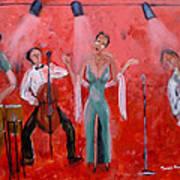 Live Jazz Art Print by Mounir Mounir