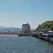 Llandudno Pier In Wales Uk On A Bright Sunny Day Art Print