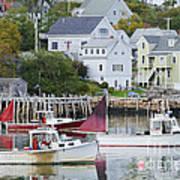 Lobster Fishing Boats Art Print