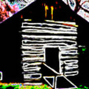 Log Cabin Home Art Print