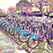 London Bikes Art Print