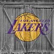 Los Angeles Lakers Art Print by Joe Hamilton