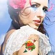 Love Heart And Arrow Tattoo Art Print