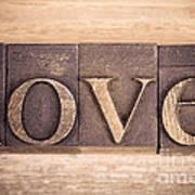 Love In Printing Blocks Art Print