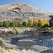744p Lucky Peak Dam Sandy Point Id Art Print