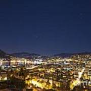 Lugano By Night Art Print