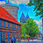Lund Street Scene Art Print