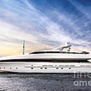 Luxury Yacht Art Print by Elena Elisseeva