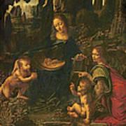 Madonna Of The Rocks Art Print by Leonardo da Vinci