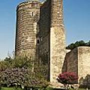 Maidens Tower In Baku Azerbaijan Art Print
