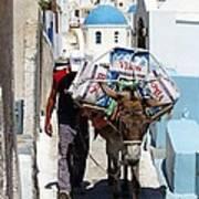 Man And His Pack Mule Art Print
