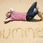 Man Of Summer Art Print