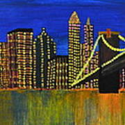 Manhattan Skyline Art Print by Shruti Prasad