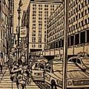 Manhattan Print by William Cauthern