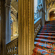 Mansion Stairway Art Print