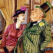 Margaret And W.c. Fields Art Print