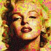 Marilyn Monroe - Maple Leaves Art Print