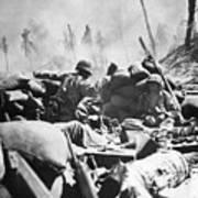 Marines Fight At Tarawa Art Print