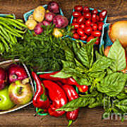 Market Fruits And Vegetables Art Print by Elena Elisseeva