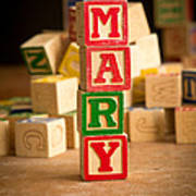 Mary - Alphabet Blocks Art Print