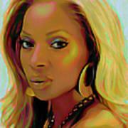 Mary J Blige Art Print