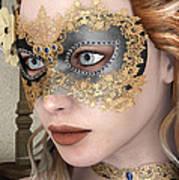 Masquerade Mask Art Print