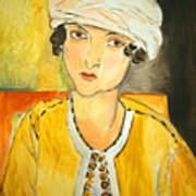 Matisse's Lorette With Turban And Yellow Jacket Art Print