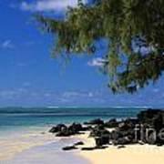 Mauritius Blue Sea Art Print