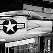 Mcdonnell F3h2n F3b F3 Demon On The Flight Deck On Display At The Intrepid Sea Air Space Museum Art Print