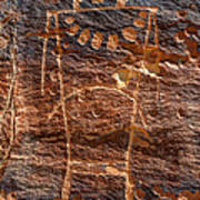 Mckee Springs Petroglyph - Utah Art Print