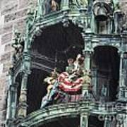 Mechanical Clock In Munich Germany Art Print