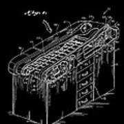 Medical Examining Table Patent 1974 Art Print