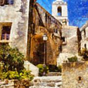 Mediterranean Steps Art Print