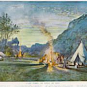 Members Of A Camping Club,  Having Art Print