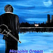Memphis Dream With B B King Art Print by Mark Moore