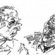 Men Talking Art Print