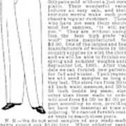 Men's Fashion, 1895 Art Print