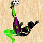 Womans Soccer Art Print