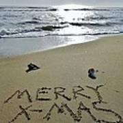 Merry Christmas Sand Art 5 12/25 Art Print