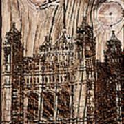 Metal England Castle Art Print