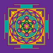 Metatron's Cube Merkaba Mandala Art Print