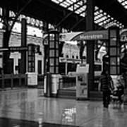 metrotren platforms in Santiago central railway station Chile Art Print