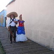 Mexican Revolutionary Re-enactor With His  Lady Helldorado Days Tombstone Arizona 2004 Art Print