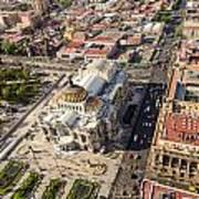 Mexico City Aerial View Art Print