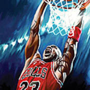 Michael Jordan Artwork Art Print by Sheraz A